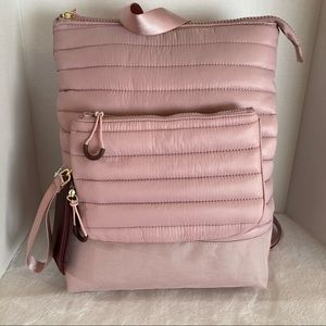 Laundry by shelli segal backpack tote pink zip new